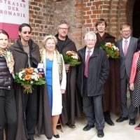 Gold_montalbâne ensemble_v.l. Andrea Meyer, GF SUT, Dr. C.Pieper, Vorsitzende des Stifters, Dr. H.Rehberger, Ehrenvorsitzender, L.-J. Zimmer und B. Schön, LTV