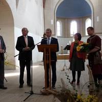Sonderpreis MW_Stadt Haldensleben_v. l. Lars-Jörn Zimmer, LTV-Vors., Minister Hartmut Möllring, BM Norbert Eichler, Bärbel Schön, LTV-GF, Lutz Zimmermann, HDL