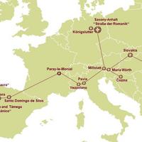 Karte TRANSROMANICA ©TRANSROMANICA e. V.